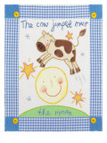 The Cow Jumped Over the Moon Premium Giclee Print by Sophie Harding