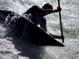 Silhouette of Kayaker in Action, Sydney, Austrailia Reproduction photographique par Chris Cole