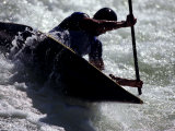 Silhouette of Kayaker in Action, Sydney, Austrailia Photographic Print by Chris Cole
