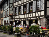 Restaurant, Timbered Buildings, La Petite France, Strasbourg, Alsace, France, Europe Photographic Print by Richardson Peter