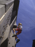 Girl Outdoor Wall Climbing, Model Release Photographic Print
