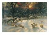 La journée d'hiver raccourcie Reproduction procédé giclée par Joseph Farquharson