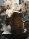 Steaming Baskets on Wok, Leshan, Sichuan, China Photographic Print by Porteous Rod