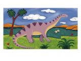 Dippy the Diplodocus Giclee-tryk i høj kvalitet af Sophie Harding