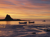 Lindisfarne at Sunrise, Holy Island, Northumberland, England, United Kingdom, Europe Photographic Print by Wogan David