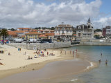 Beach and Harbour, Cascais, Portugal, Europe Photographic Print by Wogan David