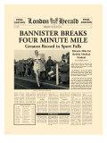 Four Minute Mile Premium Giclée-tryk af  The Vintage Collection