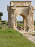 Arch of Septimus Severus, Leptis Magna, UNESCO World Heritage Site, Libya, North Africa, Africa Photographic Print by Groenendijk Peter