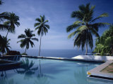 Hotel Swimming Pool, Kovalam, Kerala State, India Photographie par Strachan James
