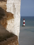 Lighthouse, Beachy Head, East Sussex, England, United Kingdom, Europe Photographic Print by Wogan David