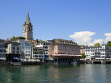 Riverside View of the Old Town, Zurich, Switzerland, Europe Photographic Print by Richardson Peter