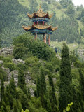 Pagoda on Hillside Outside Kunming, Kunming, Yunnan, China Photographic Print by Porteous Rod