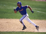 Baseball Player in Action Running the Bases Photographic Print