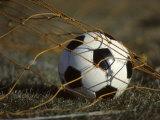 Soccer Ball in Net Fotografisk trykk