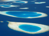 Aerial View of Atolls in the Maldive Islands, Indian Ocean Photographic Print by Papadopoulos Sakis
