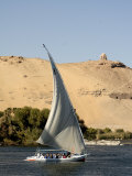 Felucca on the River Nile, Aswan, Egypt, North Africa, Africa Photographic Print by Groenendijk Peter