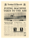 Flying Machine Takes to the Air! Premium Giclee Print by  The Vintage Collection