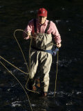 Fly Fisherman, Florida, USA Photographic Print