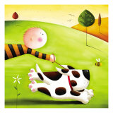 Walkies Premium Giclee Print by Jo Parry