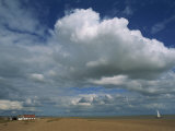 White Clouds in a Blue Sky at Shingle Street Near Felixstowe, Suffolk, England, United Kingdom Photographic Print by Strachan James