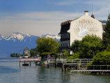 Lakeside Hotel, Lac Leman, Evian-Les Bains, Haute-Savoie, France, Europe Photographic Print by Richardson Peter