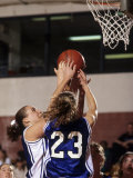 Female High School Basketball Players in Action During a Game Photographic Print