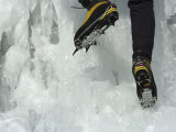Male Ice Climber, Detail of Boots and Crampons Photographic Print by Chris Trotman