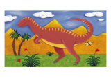 Izzy, el iguanodon Lámina giclée premium por Sophie Harding