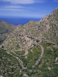 Hairpin Bends on Winding Road Up a Rocky Hill at La Alobra, Majorca, Balearic Islands, Spain Photographic Print by Merten Hans Peter