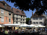Half Timbered and Painted Buildings and Restaurants, Colmar, Haut Rhin, Alsace, France, Europe Photographic Print by Richardson Peter