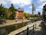 Canal and Lock Keepers Cottage at Castlefield, Manchester, England, UK Photographic Print by Richardson Peter