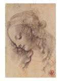 Testa di Giovinetta Premium Giclee Print by  Leonardo da Vinci