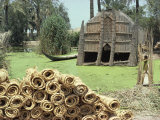 Mudhif&#39; Meeting House and Reed Mats Ready for Sale, Chobaish Marshes, Iraq, Middle East Photographic Print by Theakston Victoria