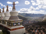View of Yushu Town from Temple, Yushu, Qinghai, China Photographic Print by Porteous Rod