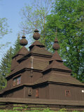Old Wooden Orthodox Church at Ladomirova, Slovakia, Europe Photographie par Strachan James