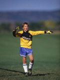 11 Year Old Boys Soccer Goalie in Action Photographie
