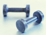 Weights Photographic Print by Chris Trotman