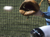 Detail of Baseball and Catchers Mitt Photographic Print