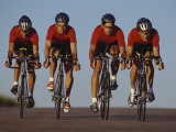 Road Cycling Team in Action Reproduction photographique