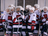 Childrens Ice Hockey Team Photographic Print