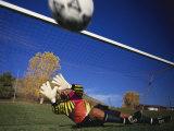 Soccer Goalie in Action Fotografisk trykk