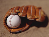 Baseball in Glove Photographic Print by Chris Trotman