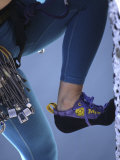 Woman Rock Climber Shoe and Legs(Detail), New Paltz, New York, USA Photographic Print