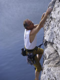 Mature Male Rock Climber, New Paltz, New York, USA Photographic Print