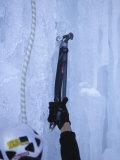 Man Ice Climbing, Detail of Equipment Photographic Print by Chris Trotman