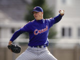 Baseball Pitcher in Action Photographic Print