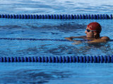 Swimmer Resting in the Pool after Workout Photographic Print