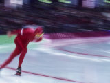 Blurred Action of Speed Skater Photographic Print by Steven Sutton