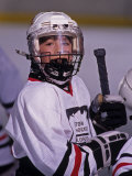 Portrait of Young Ice Hockey Player Photographic Print