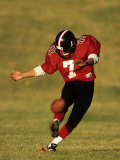 Football Place Kicker in Action Photographic Print
